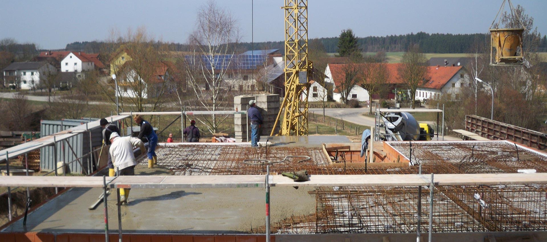 Rohbau der Brandl GmbH bei Landshut