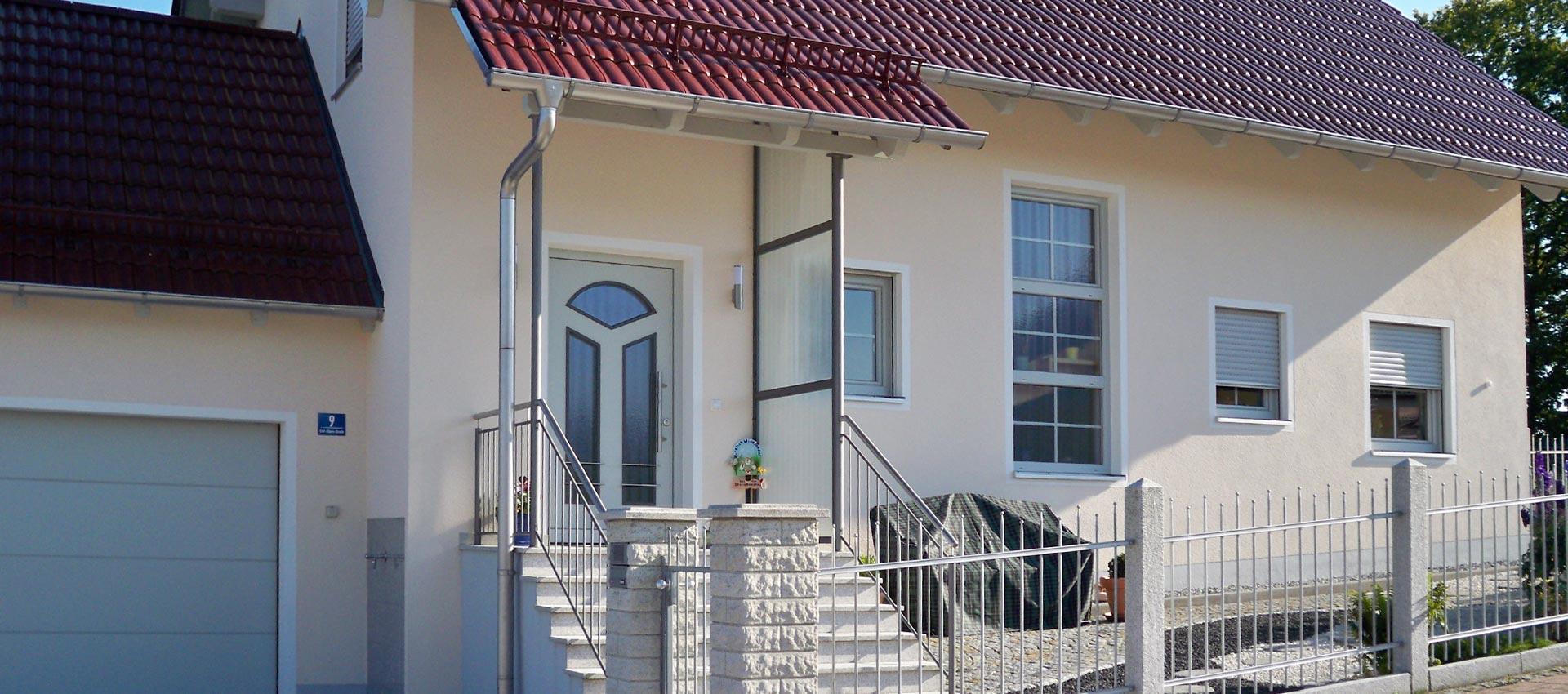 Fertiges Einfamilienhaus der Brandl GmbH bei Landshut