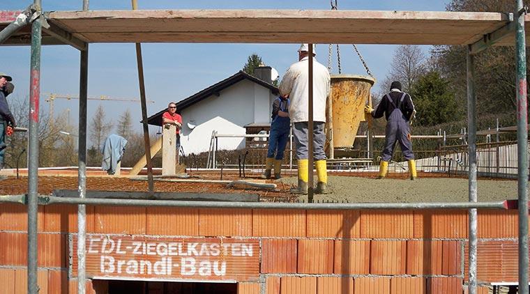 Gießen der Betondecke